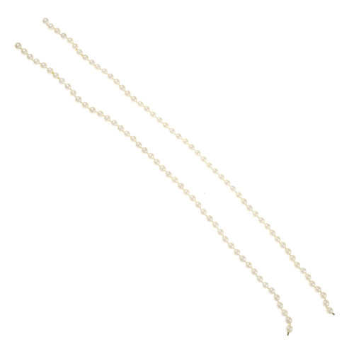 Vintage 1960 Double Strand Cultured Pearl Necklace 16 Inch 18 Or 34 Inch
