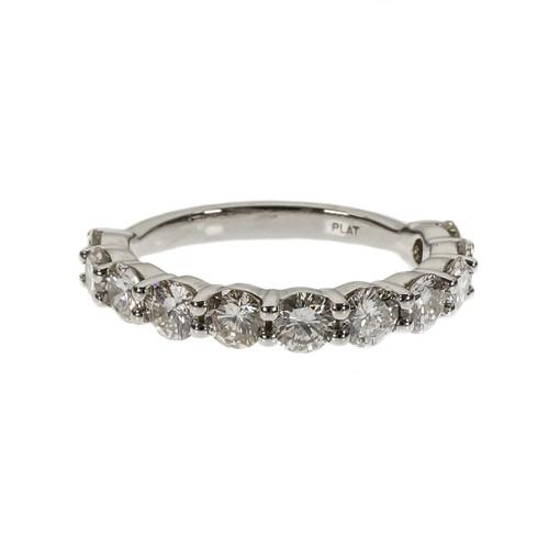 Peter Suchy 11 Diamond Common Prong Wedding Band Ring Platinum