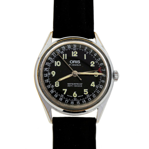 Vintage Oris Doctors Style Manual Wind 17 Jewel Date Watch