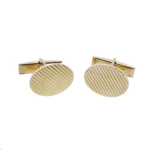 Vintage 1960 Larter & Sons Cufflinks 14k Yellow Gold