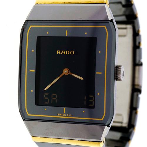 Men's Rado Diastar Ceramic 18k Analogue Digital Wrist Watch