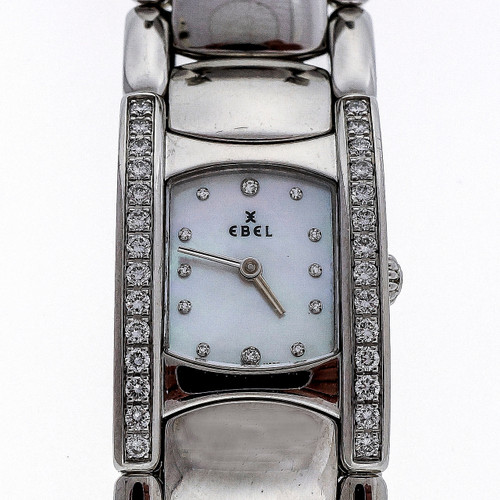 Ladies Ebel Diamond Beluga Wrist Watch Mother Of Pearl Diamond Dial