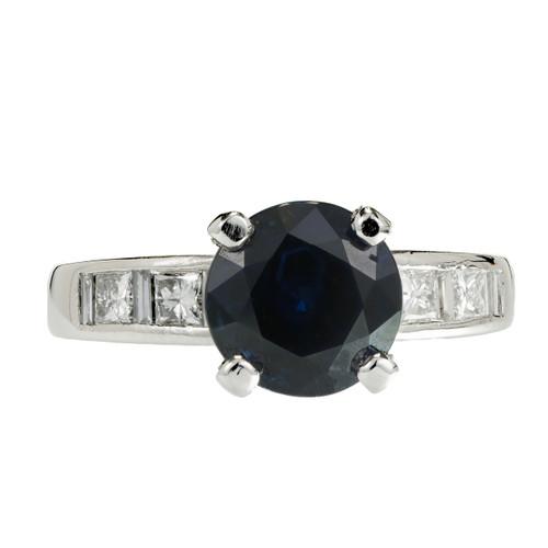 Peter Suchy GIA Certified Sapphire Engagement Ring 2.62ct Platinum Diamond