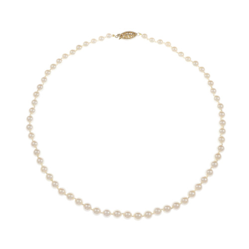 Vintage 1960 Culture Akoya Pearl Necklace 6 – 6.5mm 14k Gold 18 Inch