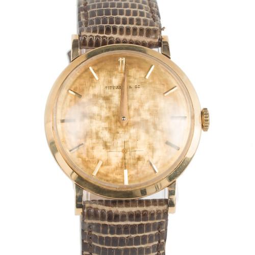 Tiffany Movado 14k 1951 Yellow Gold 17 Jewel Wrist Watch