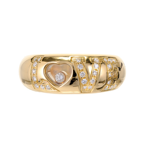 Chopard .38 Carat Diamond  Yellow Gold Love Ring