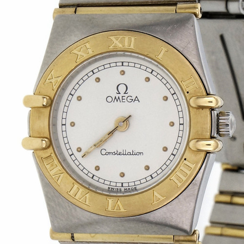 Ladies Two-Tone Yellow Gold Steel  Omega Ladies  Constellation Wristwatch Constellation