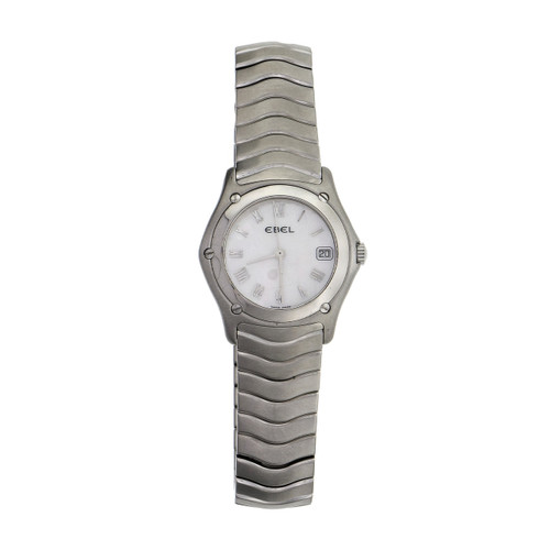 Ebel Wave Steel  Mother Of Pearl Dial  Ladies Wristwatch