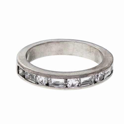 .75 Carat Diamond Platinum Wedding Band Ring