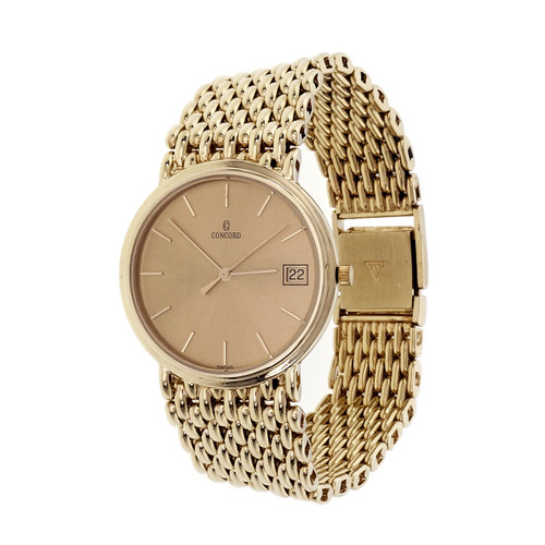 Concord Yellow Gold Mens Quartz Wristwatch