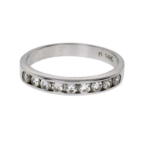 .18 Carat Diamond White Gold Wedding Band Ring