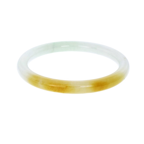 GIA Certified Jadeite Jade Slip On Bangle Bracelet