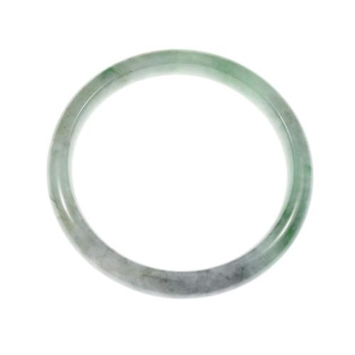 GIA Certified Natural Jadeite Jade Slip On Bangle Bracelet