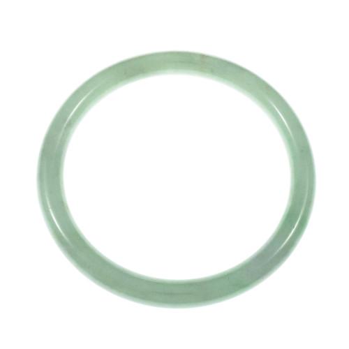 GIA Certified Jadeite Jade Mottled Green Large Bangle Bracelet