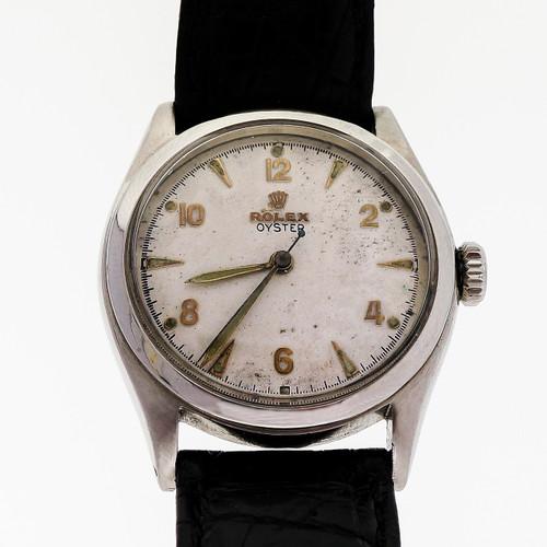 Vintage 1958 Rolex Oyster Steel 6022 Manual Wind 17 Jewel Wrist Watch