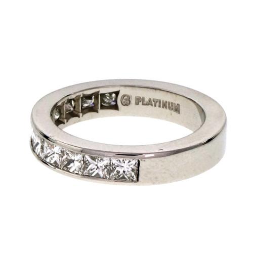 Byard F. Brogan 1.00 Carat Diamond Platinum Wedding Band Ring