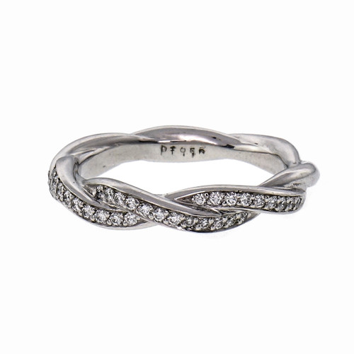.33 Carat Pavé Diamond Platinum Wedding Band