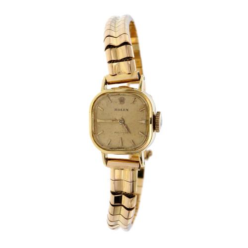 Vintage Rolex Yellow Gold Ladies Wristwatch
