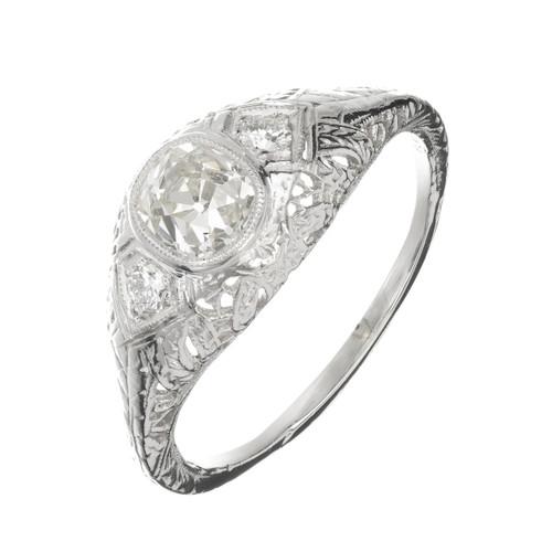 EGL Certified  1.00 Carat Diamond Platinum Engagement Ring