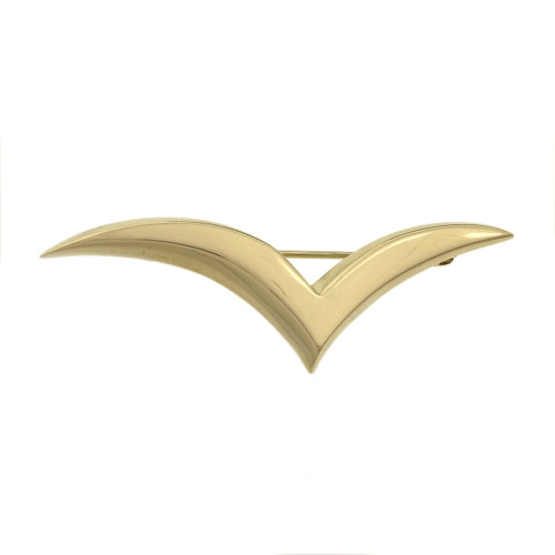 Tiffany & Co Yellow Gold  Dove Seagull Brooch