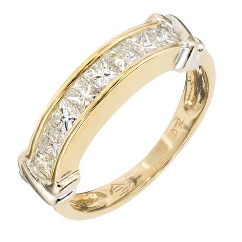 .80 Carat Diamond Yellow Gold  Wedding Band