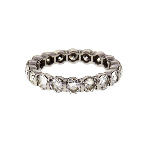 Tiffany & Co 2.70 Carat Diamond Platinum Eternity Band Ring