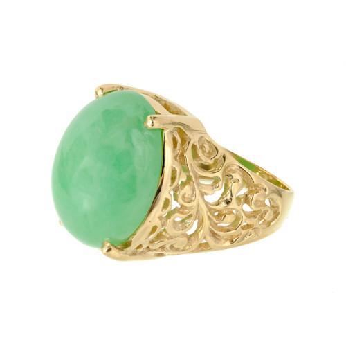 GIA Certified Jadeite Jade Yellow Gold