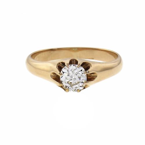Victorian .63 Carat Diamond  Rose Gold Ring