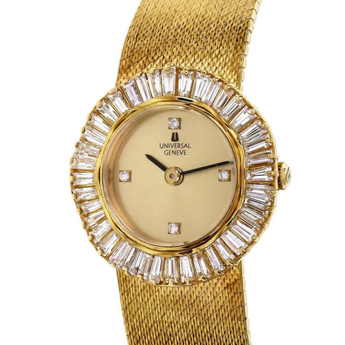 Universal Geneve 2.00 Carat Diamond Yellow Gold Ladies Wristwatch