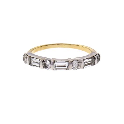 .58 Carat Diamond Yellow White Gold Band Ring