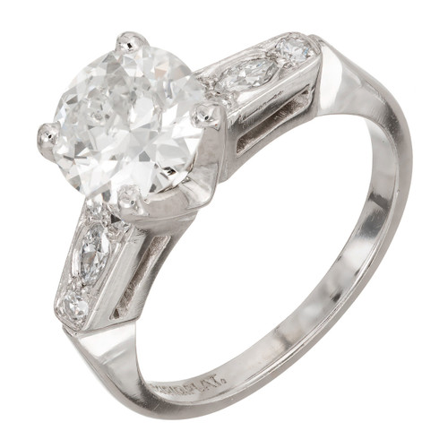 1.52 Carat Diamond Platinum Engagement Ring
