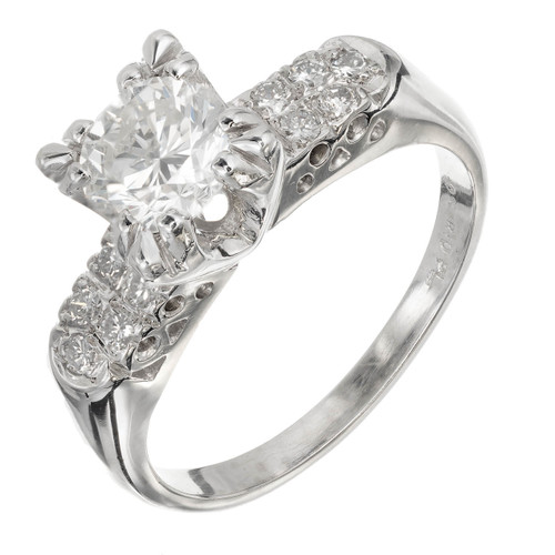 EGL Certified .90 Carat Diamond Platinum Engagement Ring