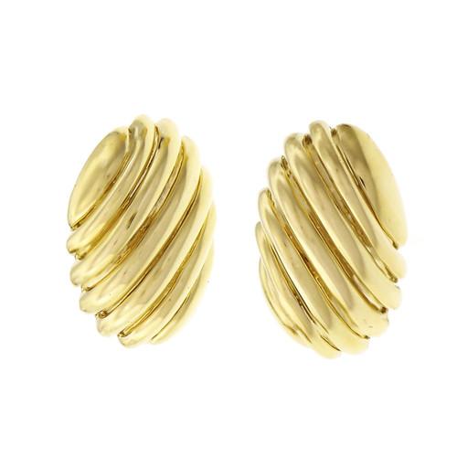 Tiffany & Co Yellow Gold Large Size Shrimp Earrings