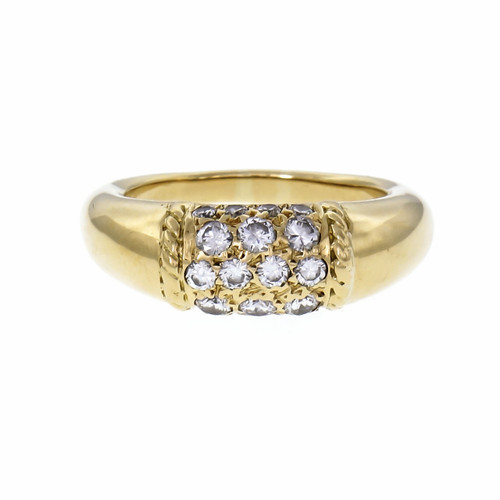 Van Cleef & Arpels .38 Carat Diamond Yellow Gold Dome Ring