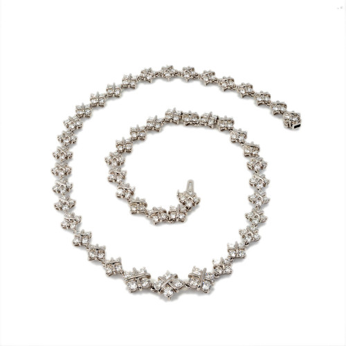 10.98 Carat Diamond X Link Platinum Necklace