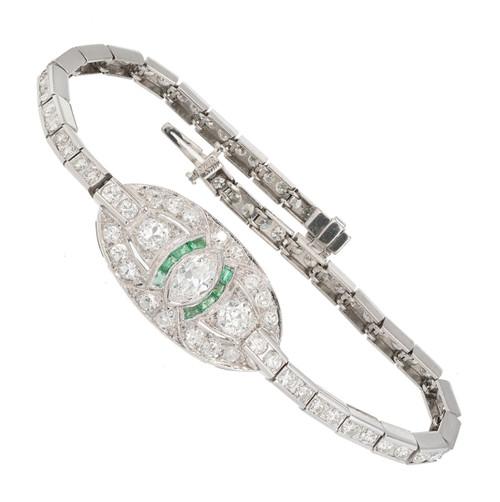 4.35 Carat Diamond Platinum Link Bracelet