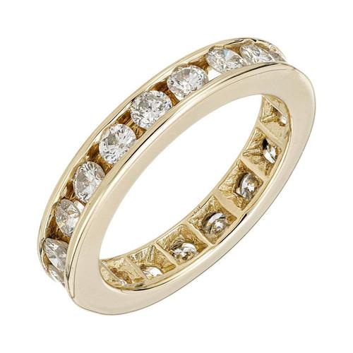 1.15 Carat Diamond Yellow Gold Eternity Band Ring