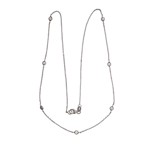 Diamond By The Yard .70ct Necklace 14k White Gold
