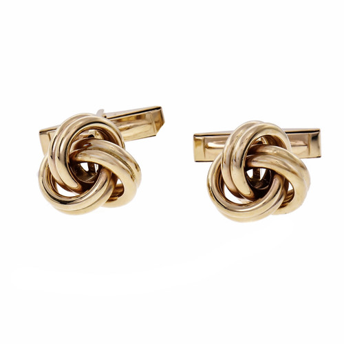 Lindsay Knot Cufflinks 14k Yellow Gold