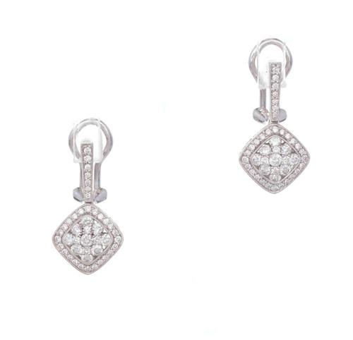 Gregg Ruth Diamond Cluster Earrings 18k White Gold