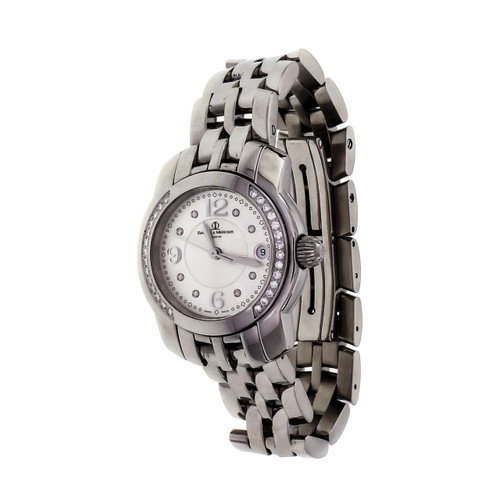 Ladies Baume & Mercier Capeland Watch Stainless Steel Diamond Quartz Date