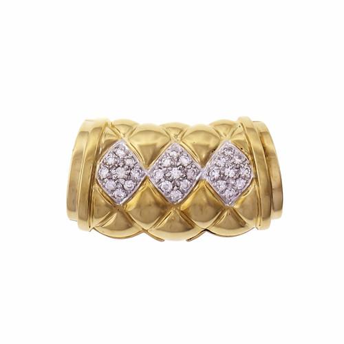 Pendant Slide 18k Yellow Gold Pavé Diamond