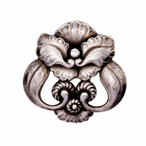 George Jensen #97 Vintage Denmark Sterling Silver Pin