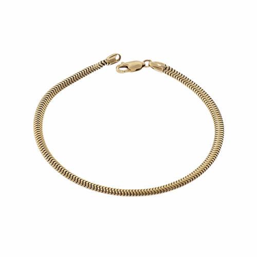 14k Yellow Gold Snake Bracelet