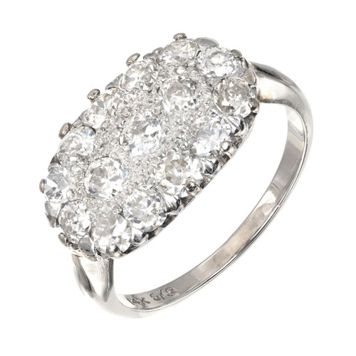 1.50ct Diamond White Gold Cluster Cocktail Ring