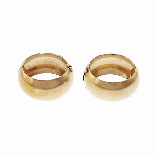 14k Yellow Gold Clip On Hoop Earrings