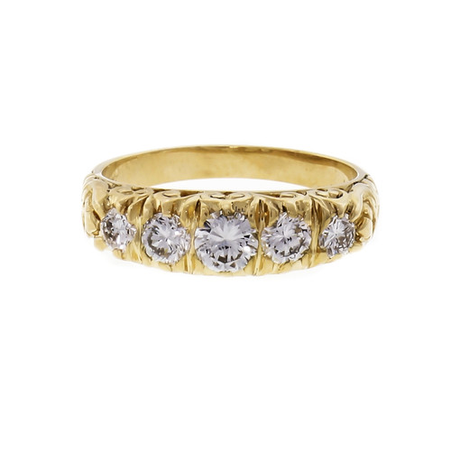 Diamond Yellow Gold Wedding Band Ring