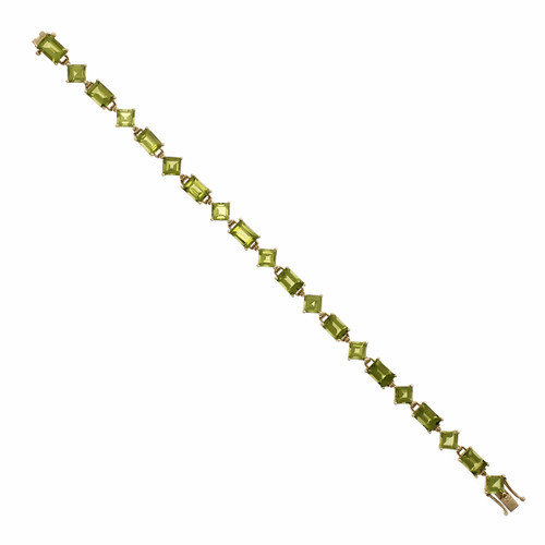17.50ct Peridot 14k Yellow Gold Bracelet
