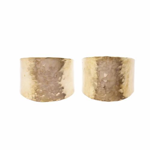 14k Yellow Gold Wide Hoop Earrings