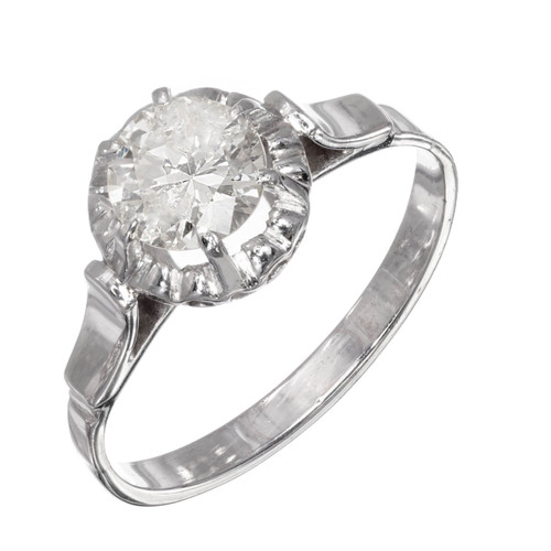 .85ct Round Diamond Platinum Gold Solitaire Engagement Ring